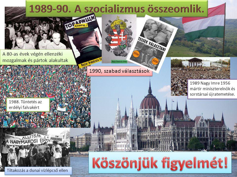 1989-90. A szocializmus összeomlik.