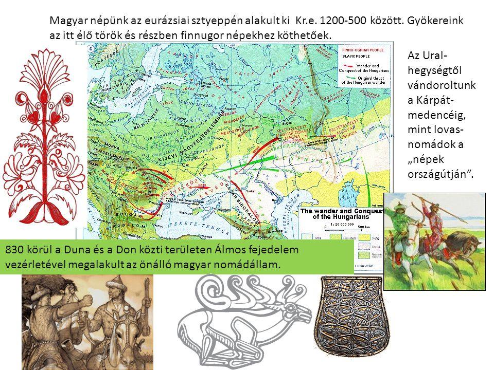 Magyar népünk az eurázsiai sztyeppén alakult ki Kr. e. 1200-500 között