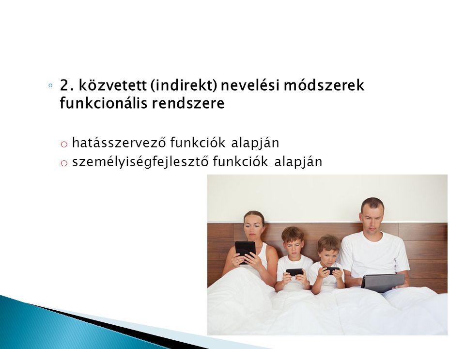 2. közvetett (indirekt) nevelési módszerek funkcionális rendszere