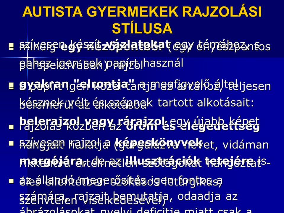 AUTISTA GYERMEKEK RAJZOLÁSI STÍLUSA