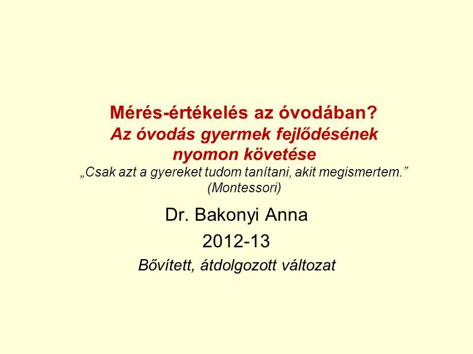 Dr. Bakonyi Anna 2012-13 Bővített, átdolgozott változat
