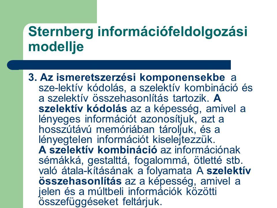 Sternberg információfeldolgozási modellje