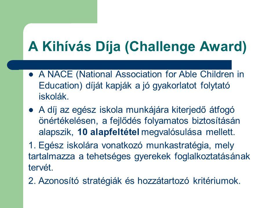 A Kihívás Díja (Challenge Award)