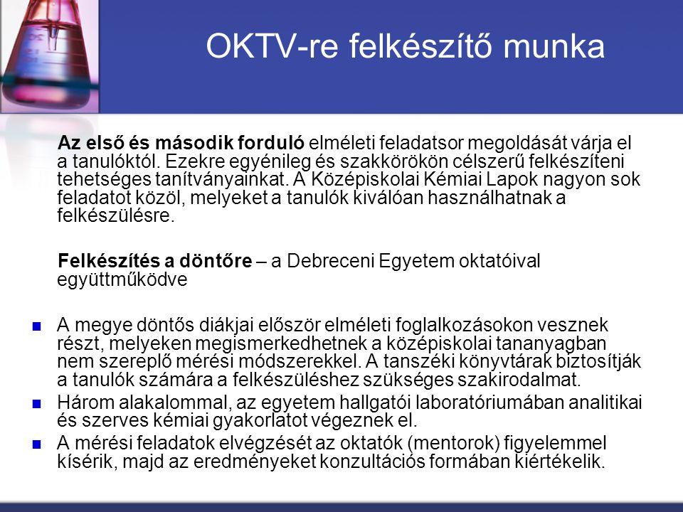 OKTV-re felkészítő munka