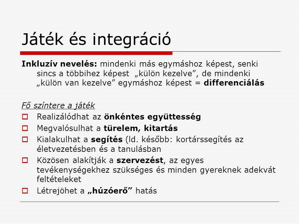 Játék és integráció
