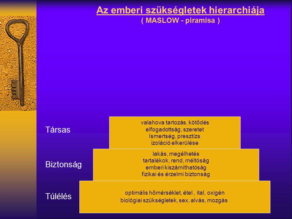 Az emberi szükségletek hierarchiája