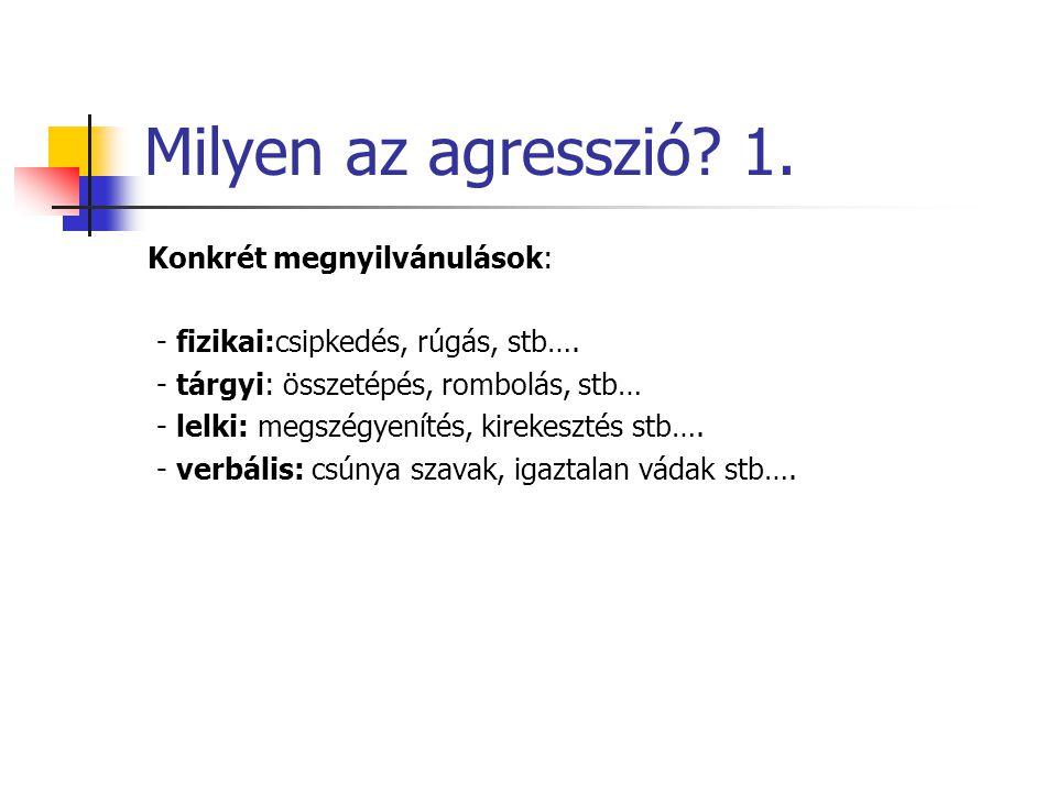 Milyen az agresszió 1.