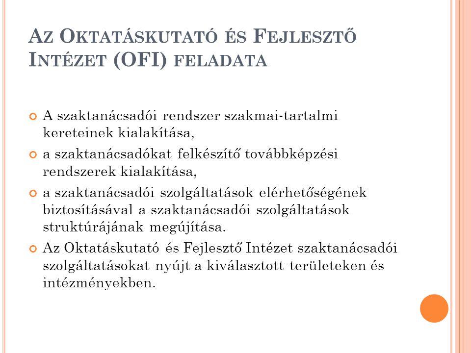 Az Oktatáskutató és Fejlesztő Intézet (OFI) feladata