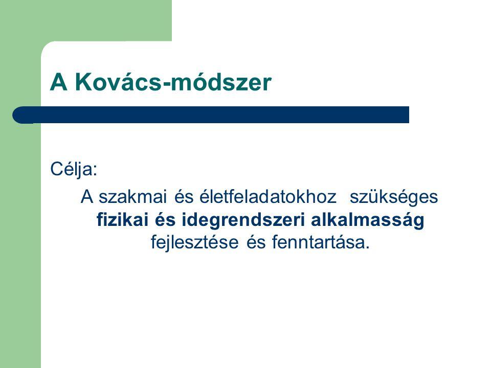 A Kovács-módszer Célja: