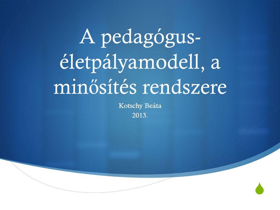 A pedagógus-életpályamodell, a minősítés rendszere