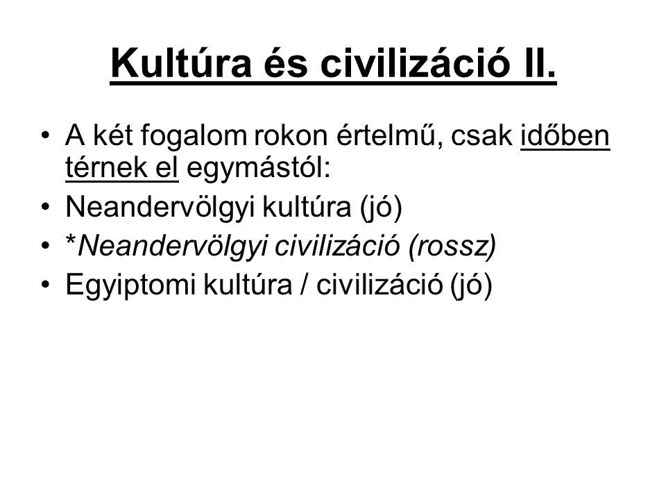 Kultúra és civilizáció II.