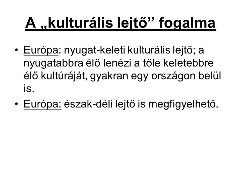 """A """"kulturális lejtő fogalma"""