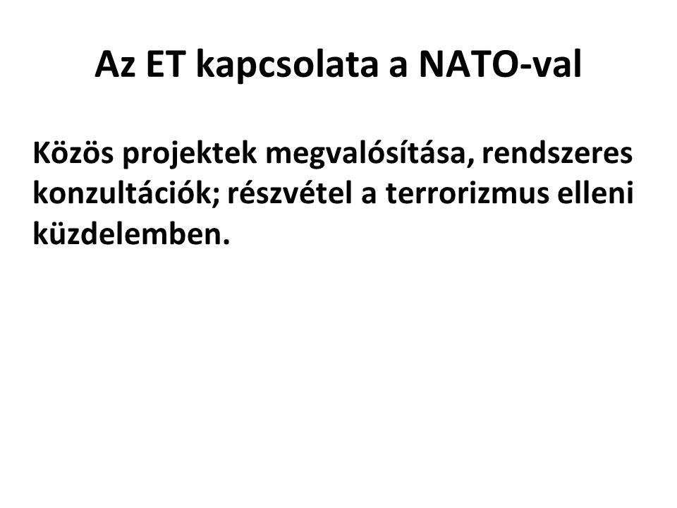 Az ET kapcsolata a NATO-val