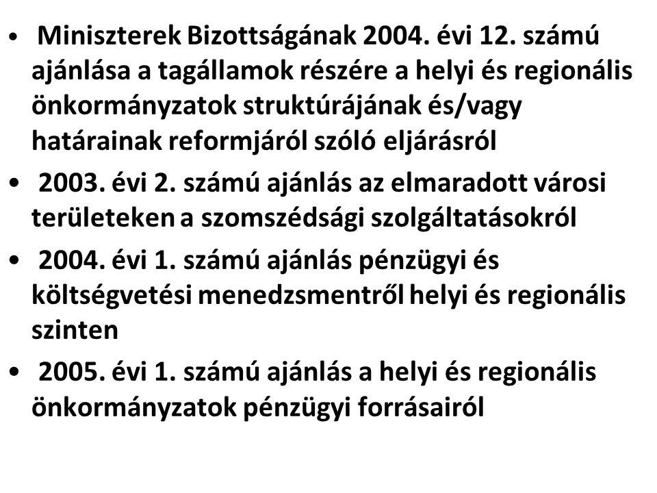 Miniszterek Bizottságának 2004. évi 12
