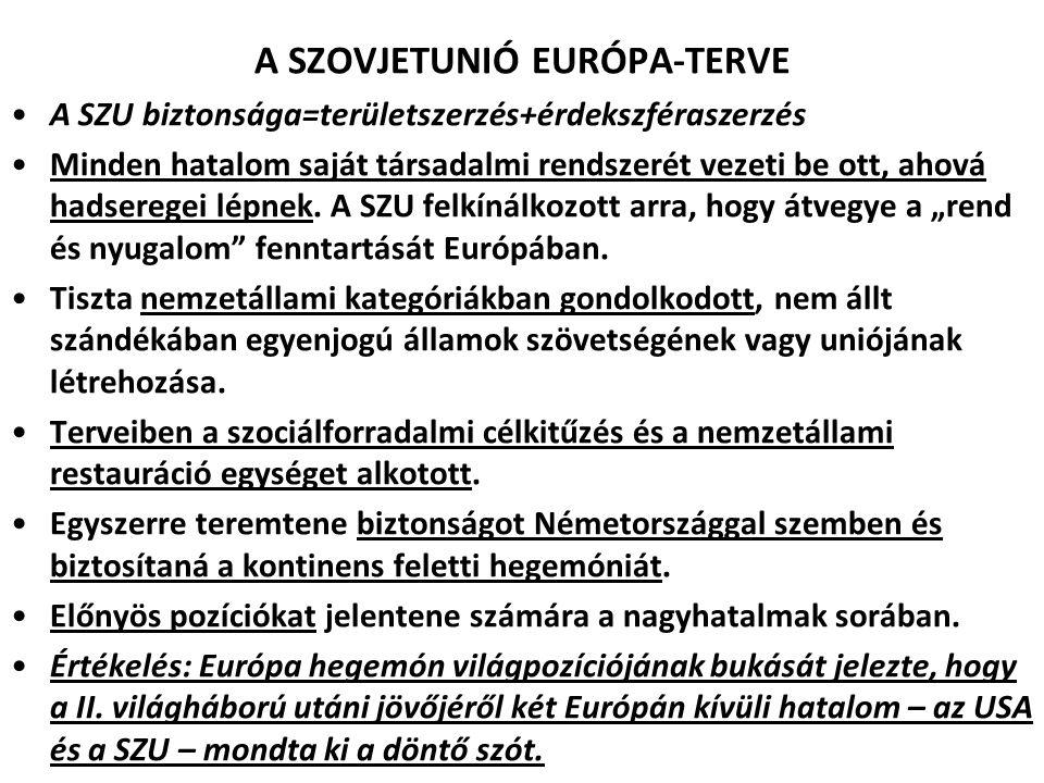 A SZOVJETUNIÓ EURÓPA-TERVE