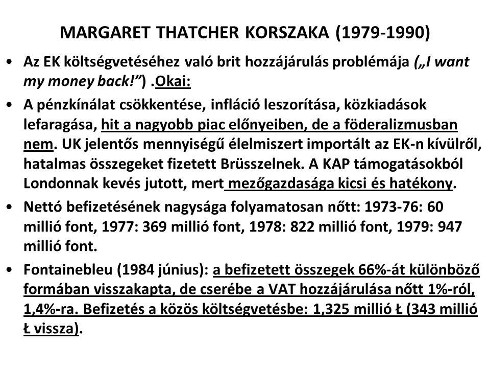 MARGARET THATCHER KORSZAKA (1979-1990)