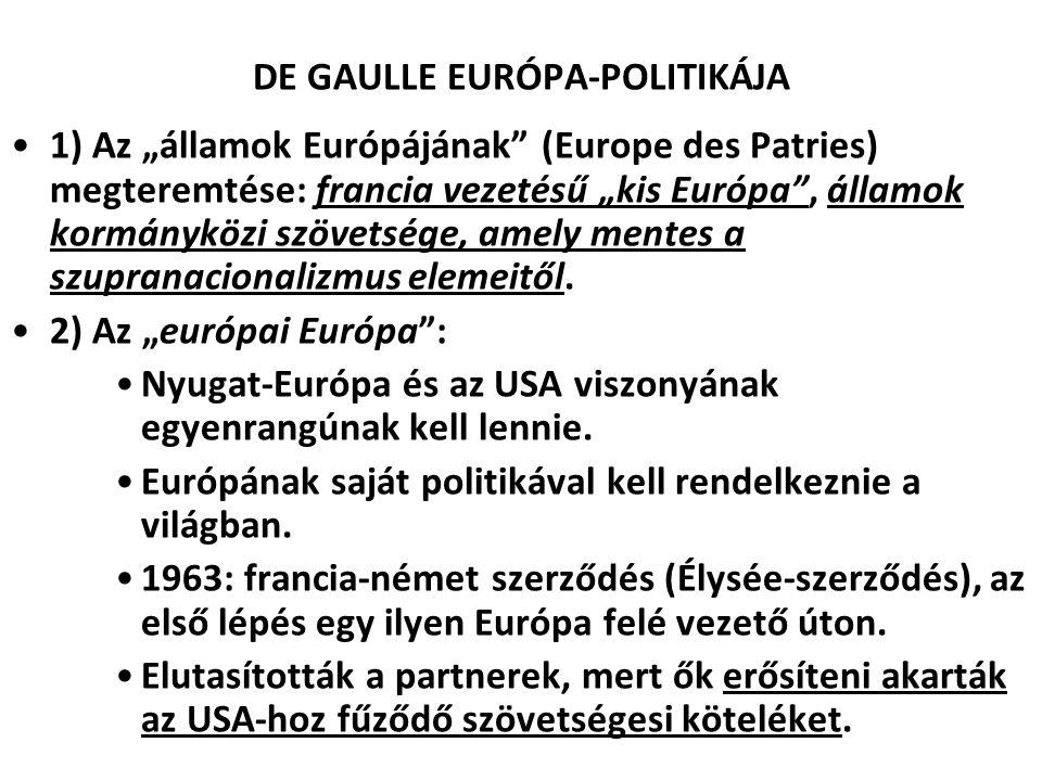 DE GAULLE EURÓPA-POLITIKÁJA