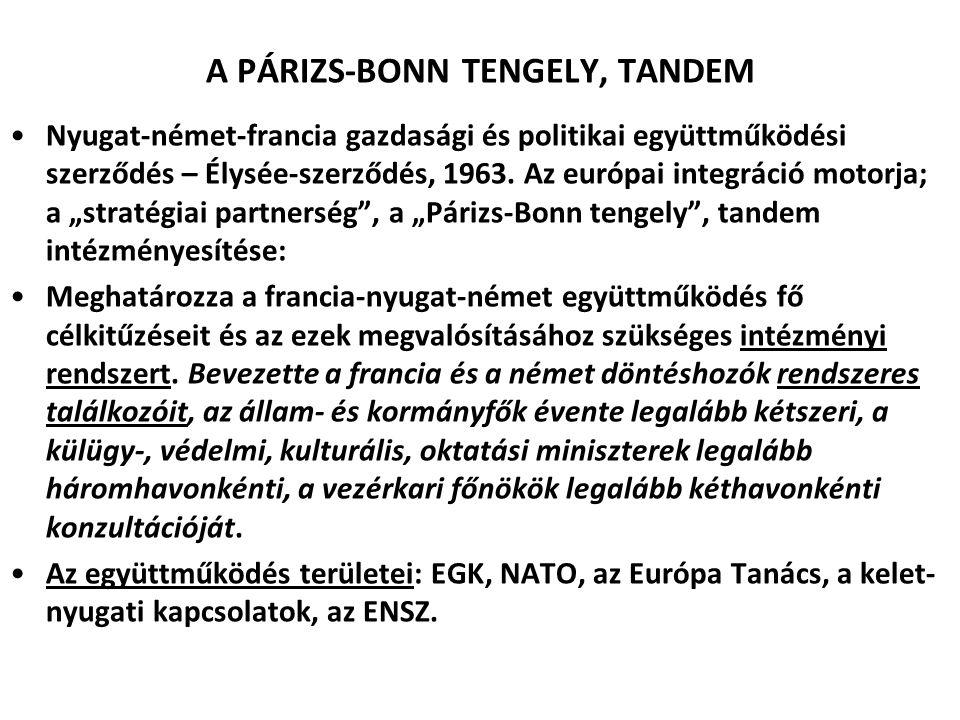 A PÁRIZS-BONN TENGELY, TANDEM