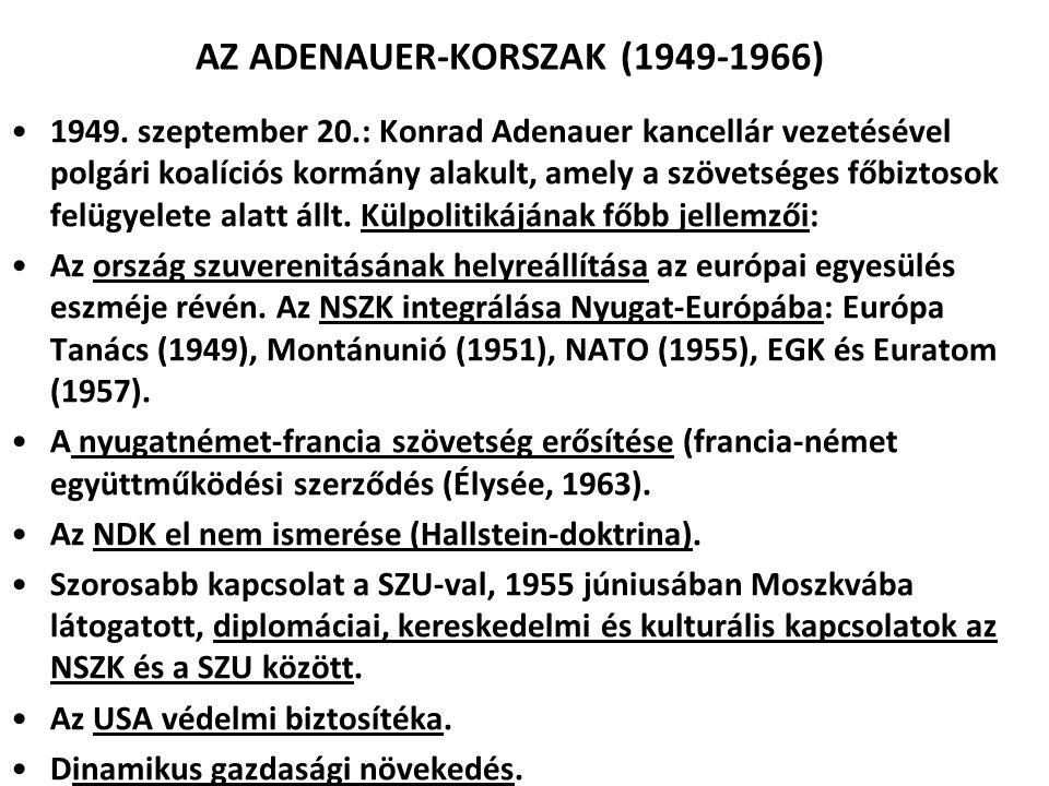 AZ ADENAUER-KORSZAK (1949-1966)