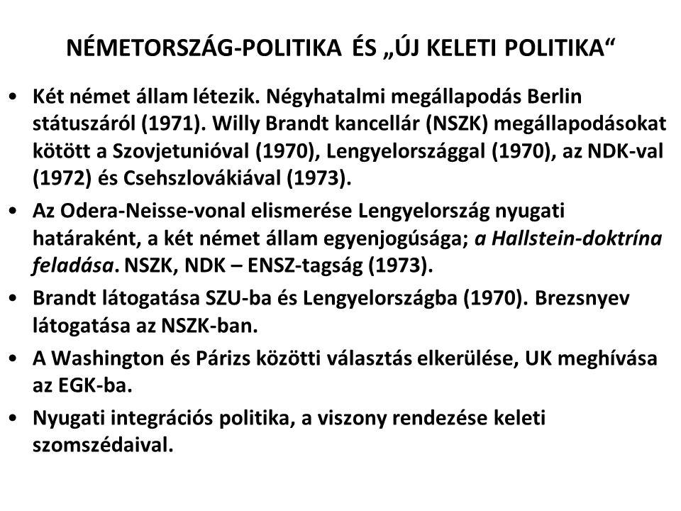 """NÉMETORSZÁG-POLITIKA ÉS """"ÚJ KELETI POLITIKA"""