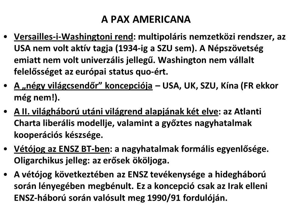 A PAX AMERICANA