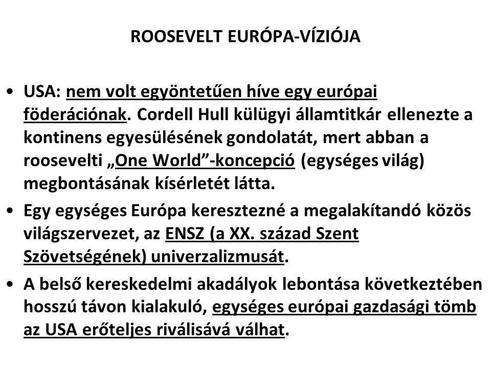 ROOSEVELT EURÓPA-VÍZIÓJA