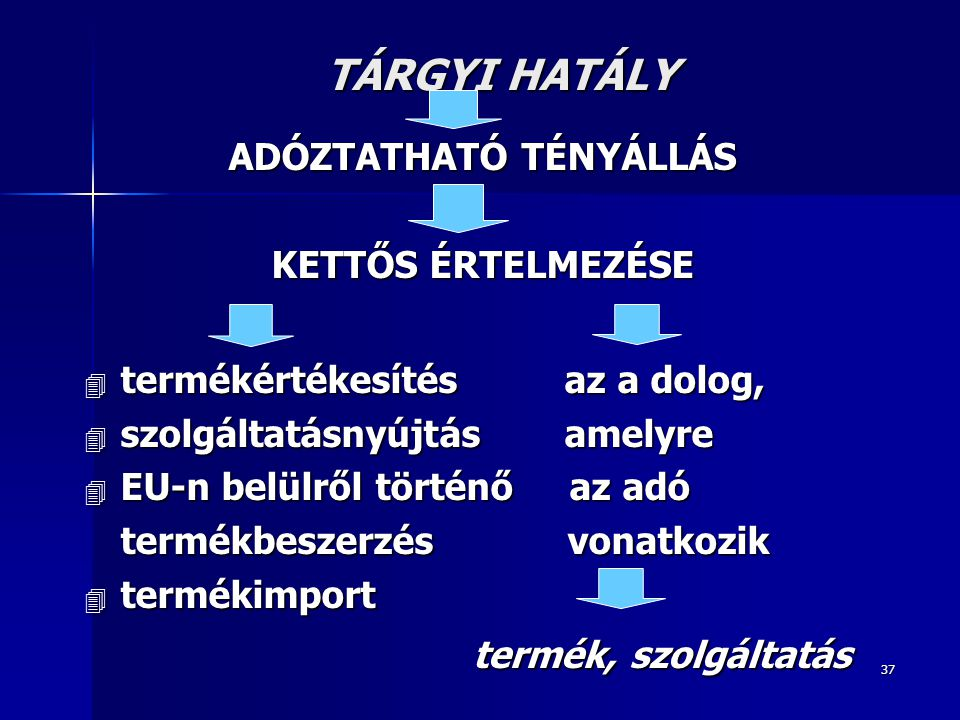ADÓZTATHATÓ TÉNYÁLLÁS