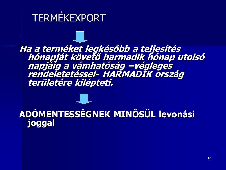 TERMÉKEXPORT