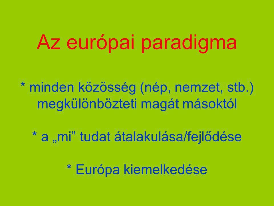 Az európai paradigma. minden közösség (nép, nemzet, stb
