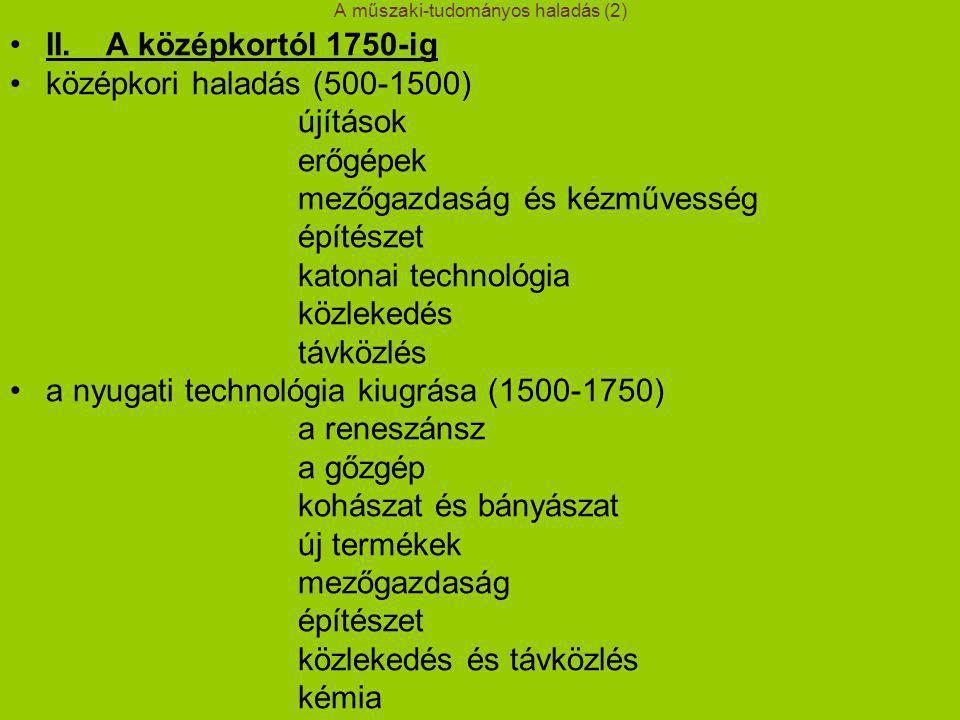 A műszaki-tudományos haladás (2)