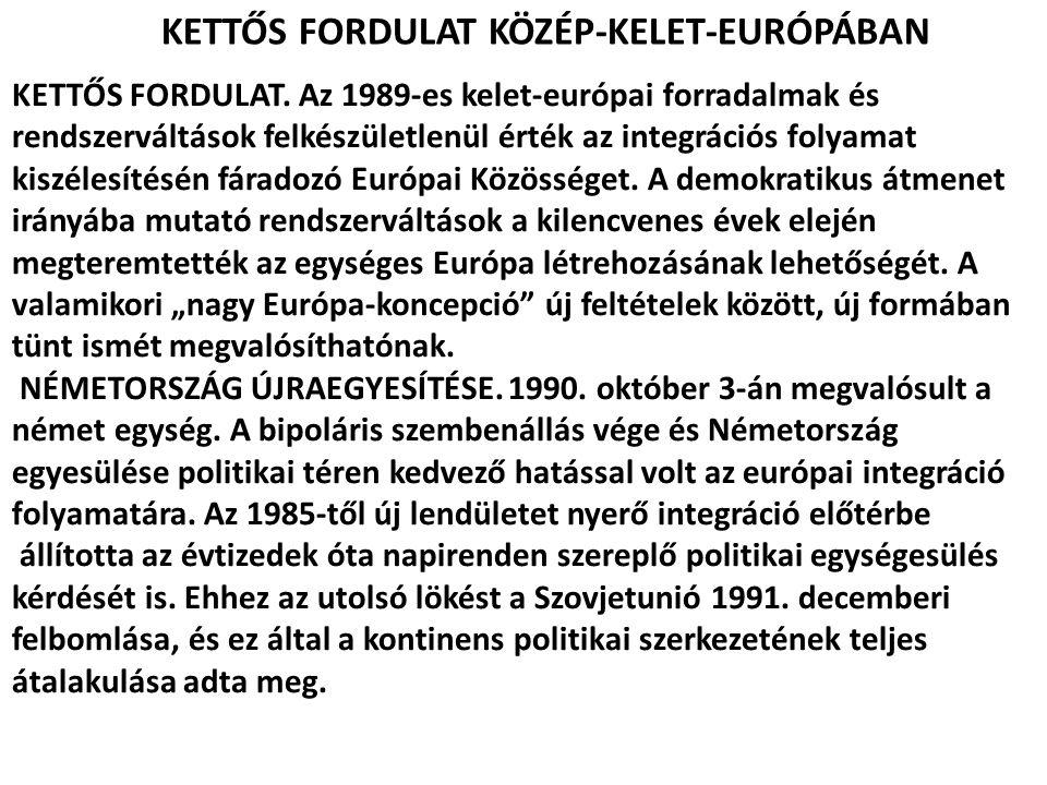 KETTŐS FORDULAT KÖZÉP-KELET-EURÓPÁBAN