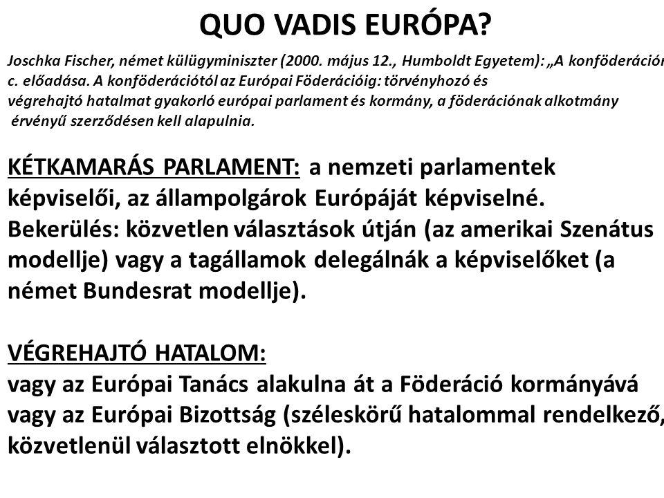 QUO VADIS EURÓPA KÉTKAMARÁS PARLAMENT: a nemzeti parlamentek