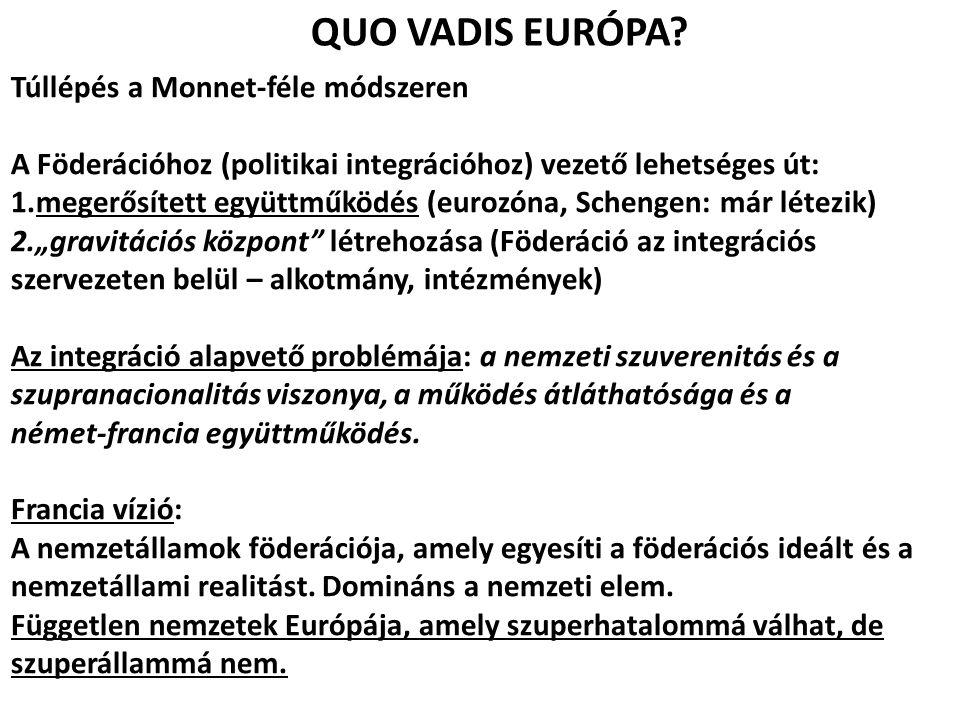 QUO VADIS EURÓPA Túllépés a Monnet-féle módszeren