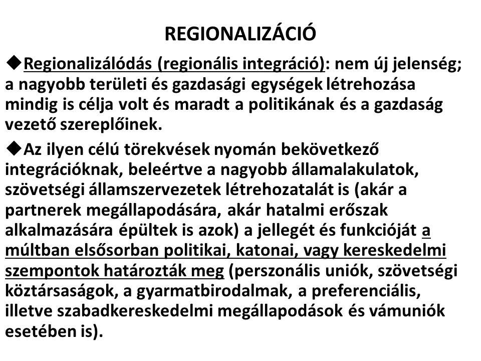 REGIONALIZÁCIÓ