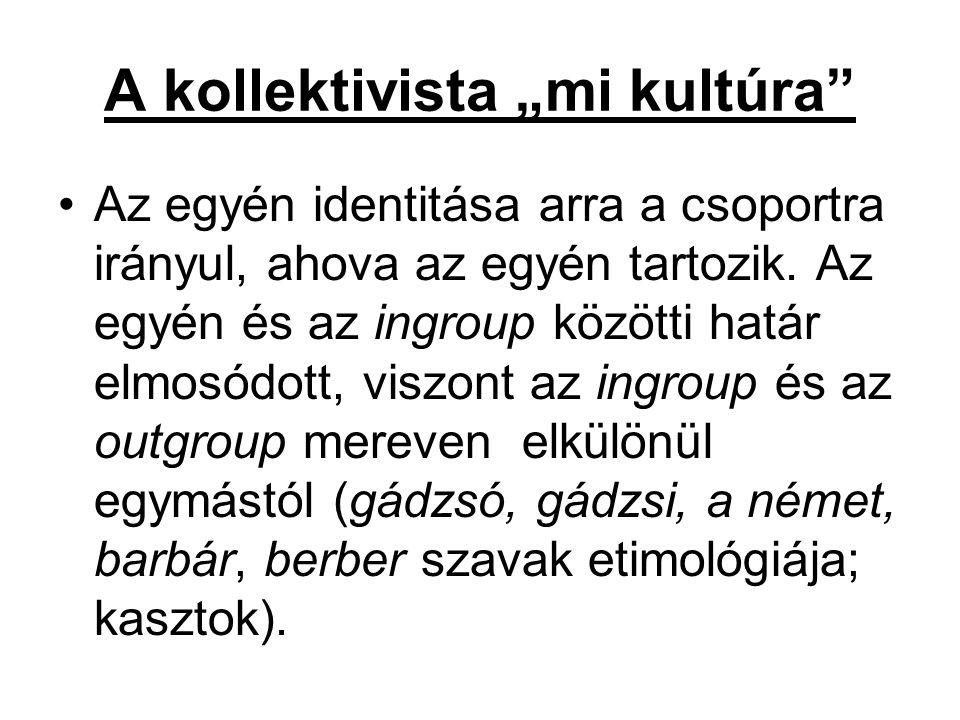 """A kollektivista """"mi kultúra"""