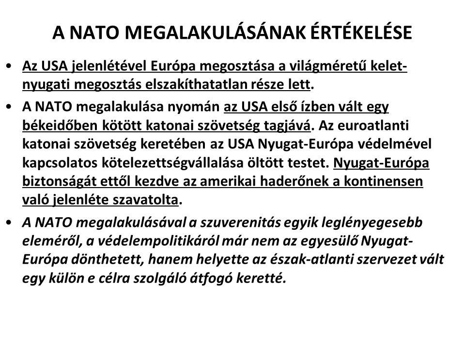 A NATO MEGALAKULÁSÁNAK ÉRTÉKELÉSE
