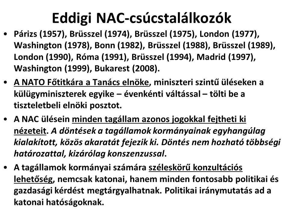 Eddigi NAC-csúcstalálkozók