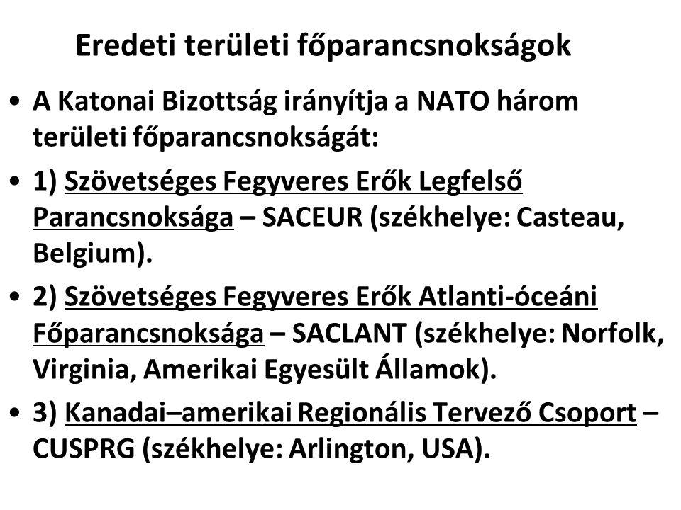 Eredeti területi főparancsnokságok