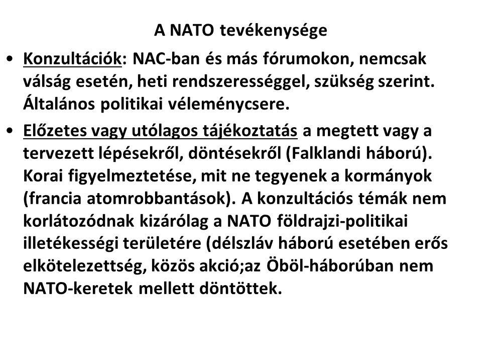 A NATO tevékenysége
