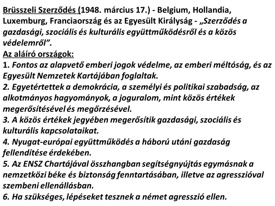 Brüsszeli Szerződés (1948. március 17