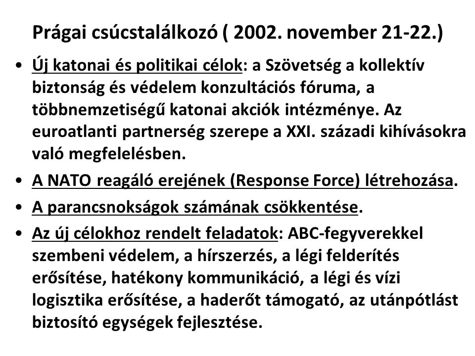 Prágai csúcstalálkozó ( 2002. november 21-22.)