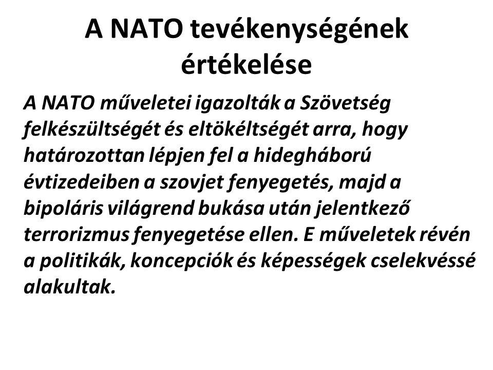 A NATO tevékenységének értékelése