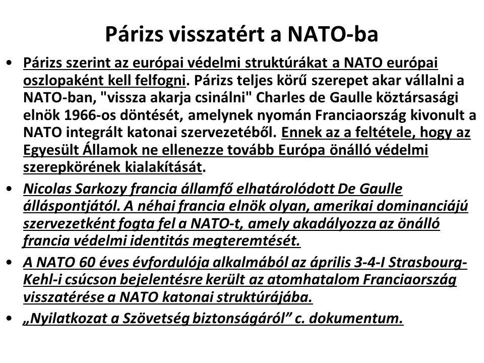 Párizs visszatért a NATO-ba