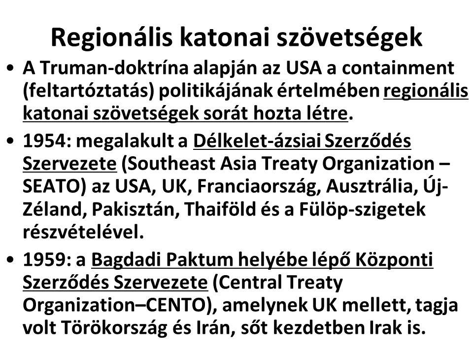 Regionális katonai szövetségek