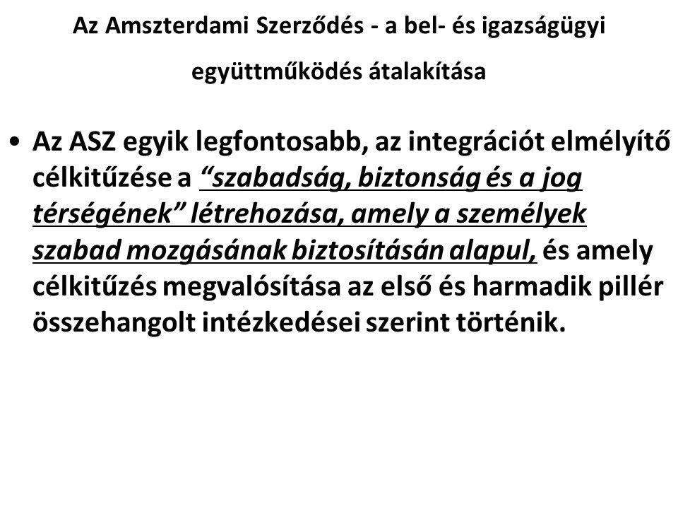 Az Amszterdami Szerződés - a bel- és igazságügyi együttműködés átalakítása