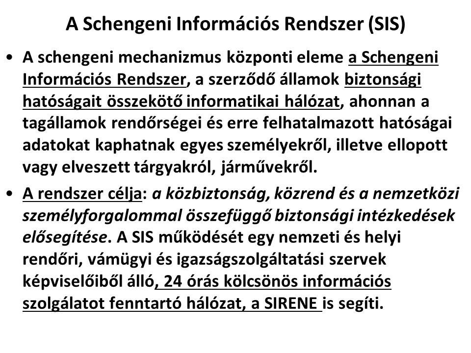 A Schengeni Információs Rendszer (SIS)