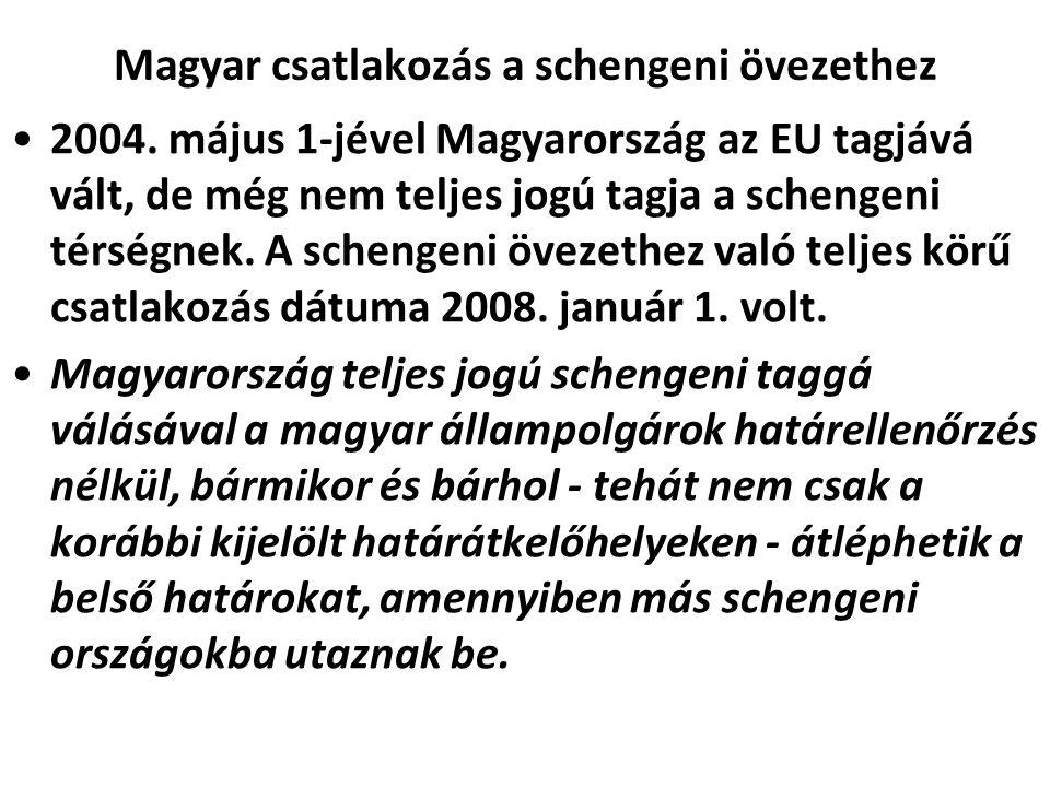 Magyar csatlakozás a schengeni övezethez