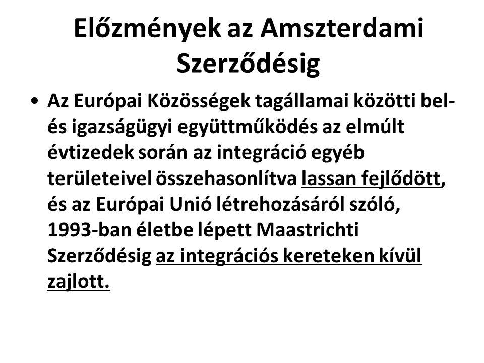 Előzmények az Amszterdami Szerződésig