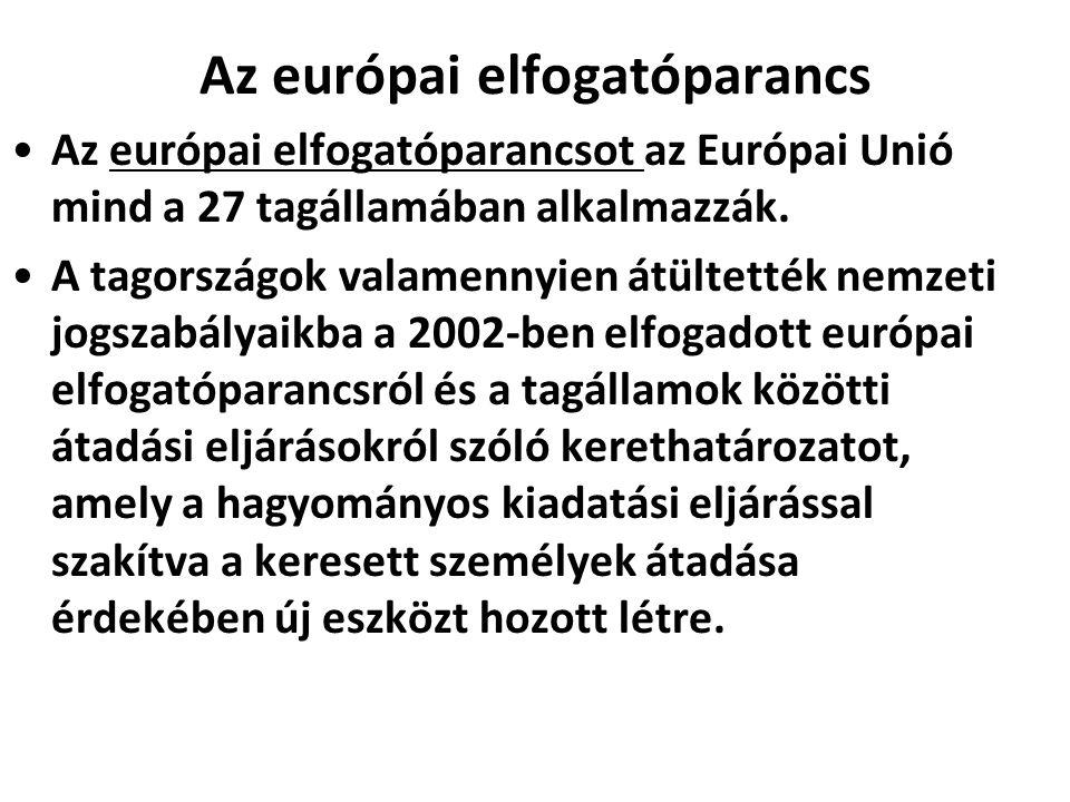 Az európai elfogatóparancs