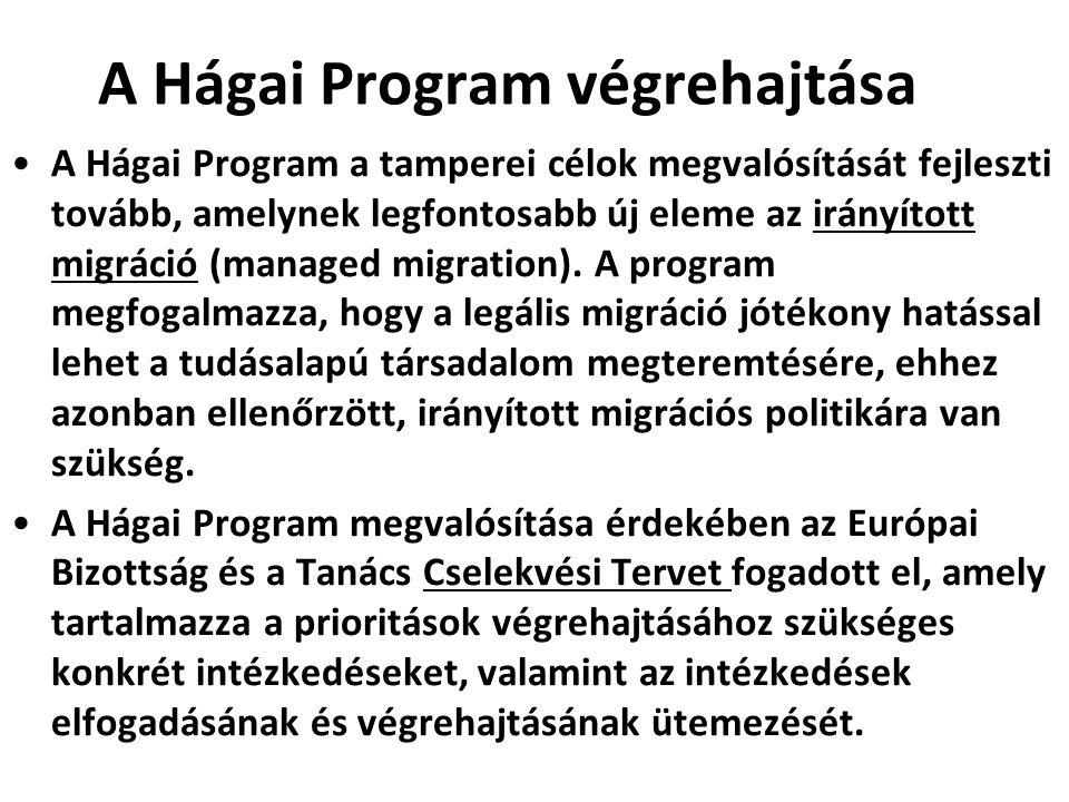 A Hágai Program végrehajtása